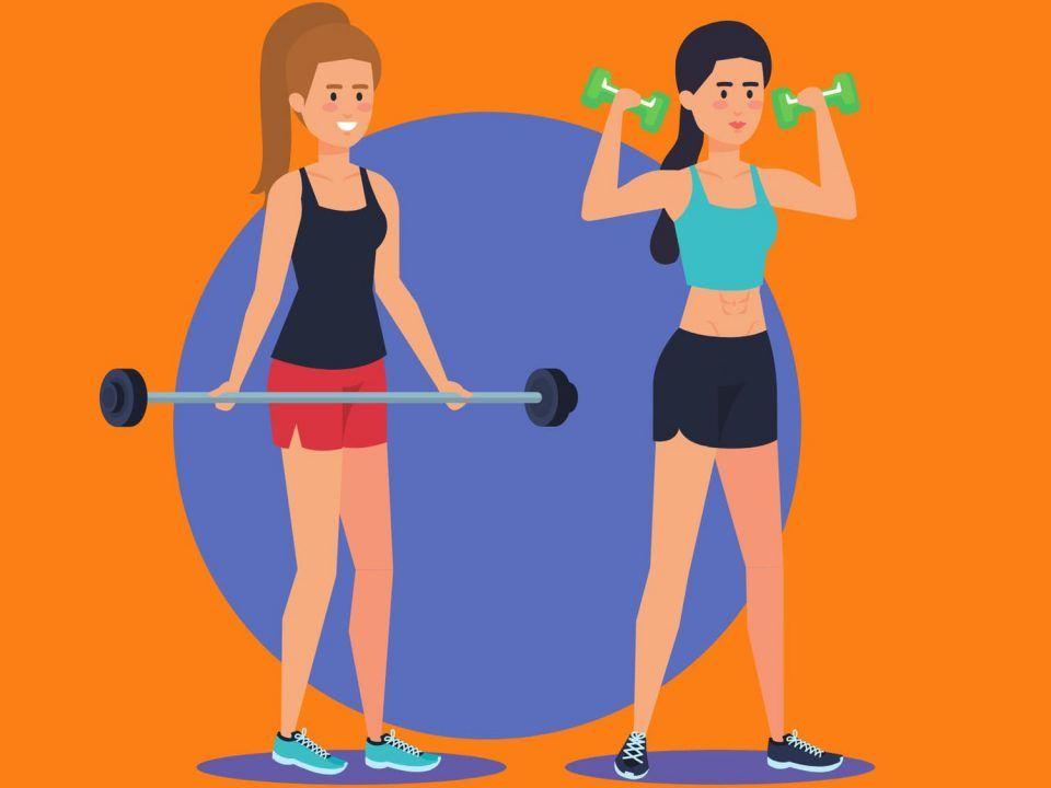 mujeres y pesas